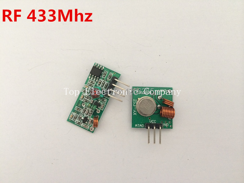 RF wireless receiver module & transmitter module board for arduino super regeneration 315/433MHZ DC5V (ASK /OOK) 1pair =2pcs(China (Mainland))