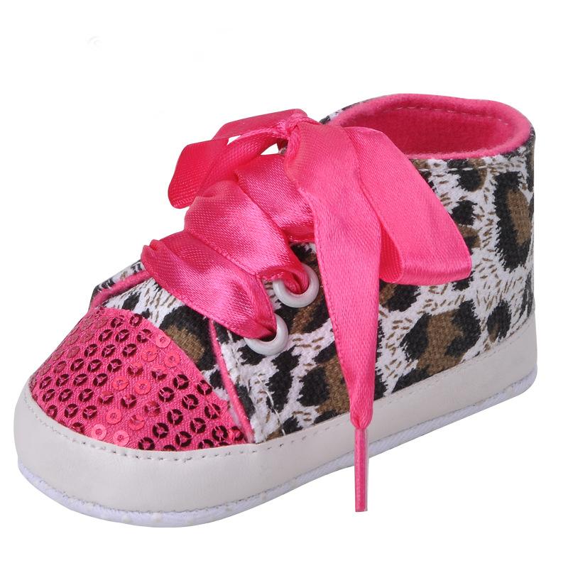 1Pair NK Leopard Canvas Baby Jordan Shoes yeezy boost 350