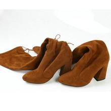 QUTAA 2020 Neue Herde Leder Frauen Über Das Knie Stiefel Lace Up Sexy High Heels Herbst Frau Schuhe Winter Frauen stiefel Größe 34-43(China)