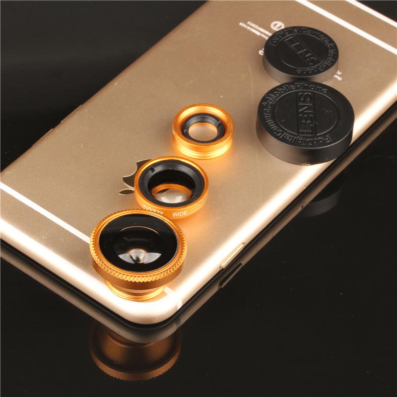 3 in 1 Wide-Angle Macro Lens 180 Fish Eye fisheye lente olho de peixe For iPhone For Samsung mobile phones len of Digital Camera