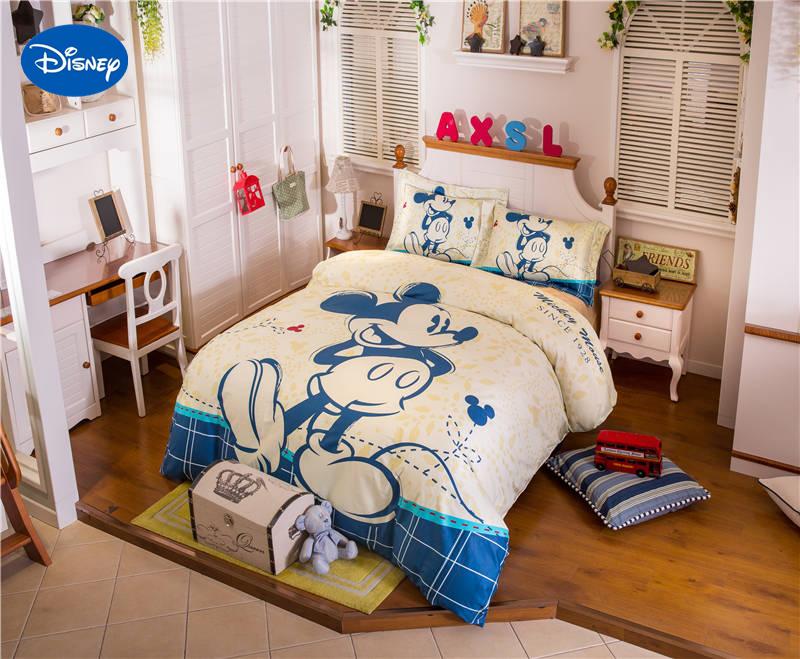 Compra mickey mouse bedding sets queen boys online al por mayor de ...