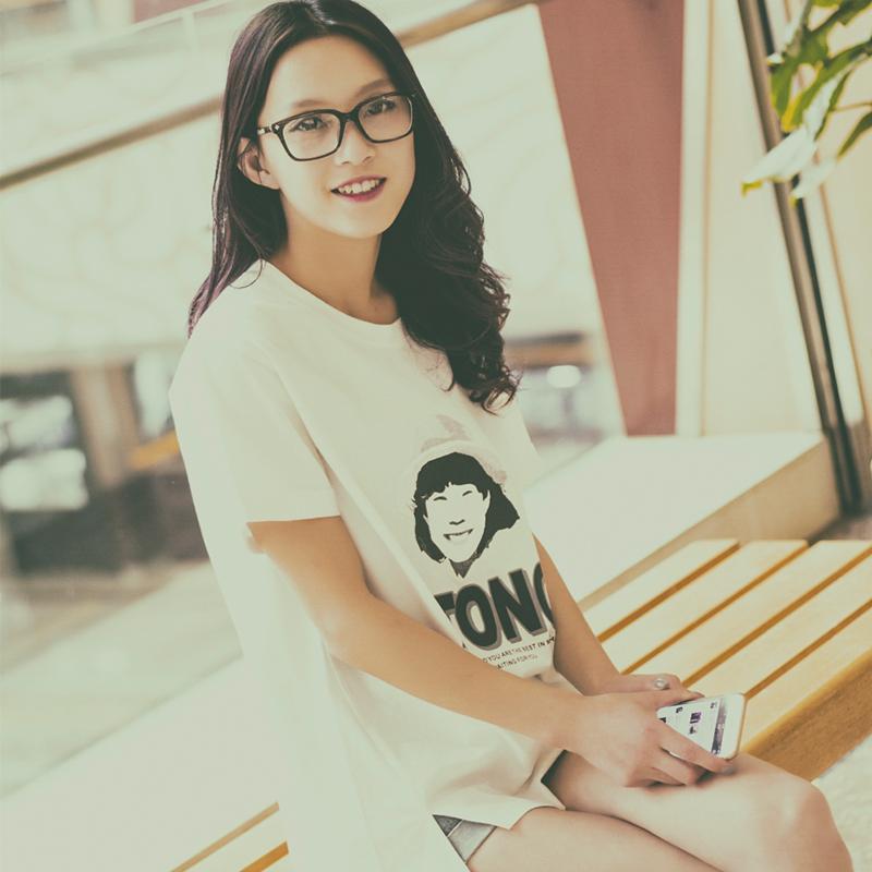 Plus Size Summer Style 2015 Women's Short Sleeve O-Neck Tshirt Fashion Ladies Cartoon Print Cotton T-Shirt Casual Tee Tops - BestHeart store