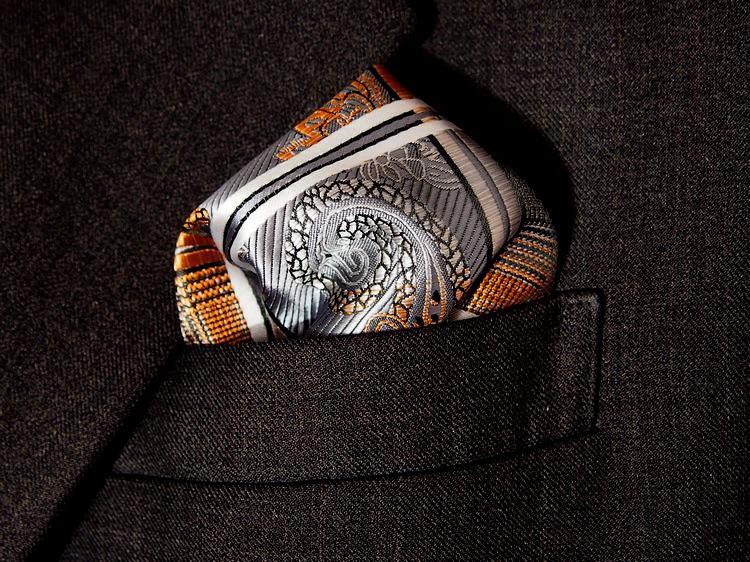 Free Shipping Paisley Gold Silver Gray Silk Hanky 100% Mens Jacquard Weave Pocket Square/party hankies/Hankerchiefs