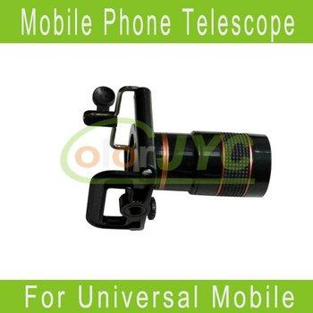 8x Zoom Optical Lens Mobile Phone Telescope Camera for Universal Phone lens+holder Free Shipping