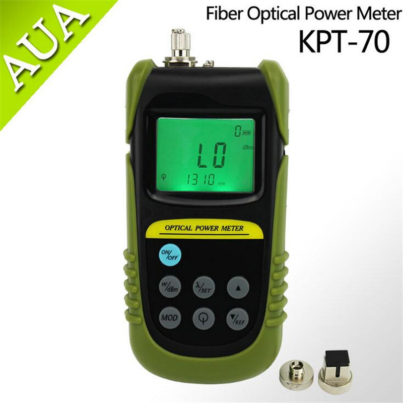 FTTH tools Fiber Optic Power Meter Tester -70 to +6 db power meter Tester FC / SC connector light power meter Test 6 wavelength(China (Mainland))