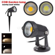 10X IP65 Outdoor Garden LED Light 220V 110V 5W COB LED Lawn Spike Light Pond Path Landscape Spot Light Bulbs(China (Mainland))