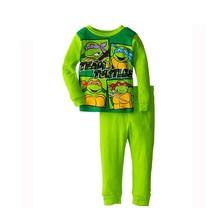 New 2015 Children Pajamas Sets Ninja Turtles 100 Cotton Kid Sleepwear Clothing Set High Quality Baby