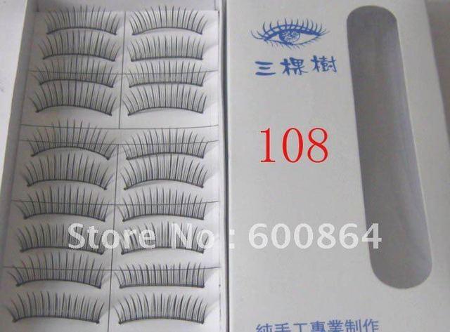 50pairs 108# Fashion Eyelashes eyelash extension False Eyelashes Fake Eyelashes artificial eyelash Hand made Eye lash