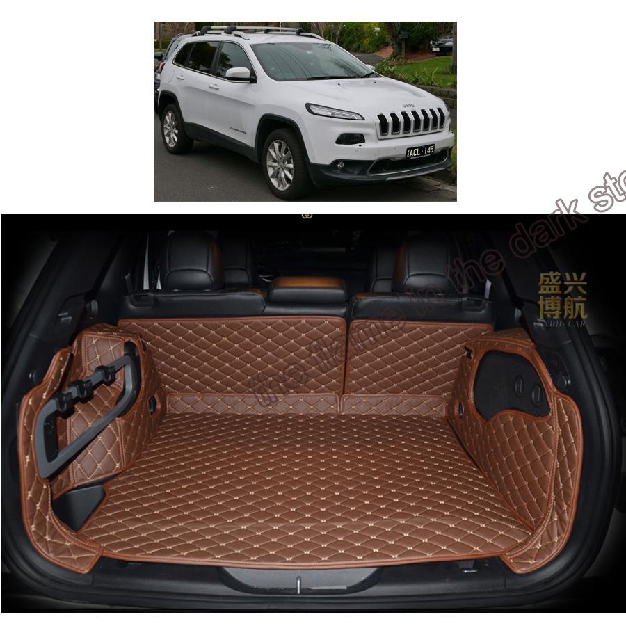 Floor mats jeep cherokee 2015 - Custom Fit Car Trunk Mat Cargo Mat For Jeep Cherokee Kl 2014 2015 2016 2017 5d Cargo Liner