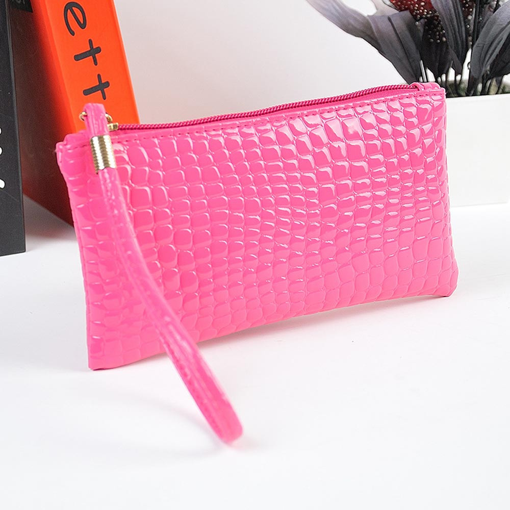 NEW Fabulous Women Crocodile Leather Clutch Handbag Bag Coin Purse free shipping Wholesale