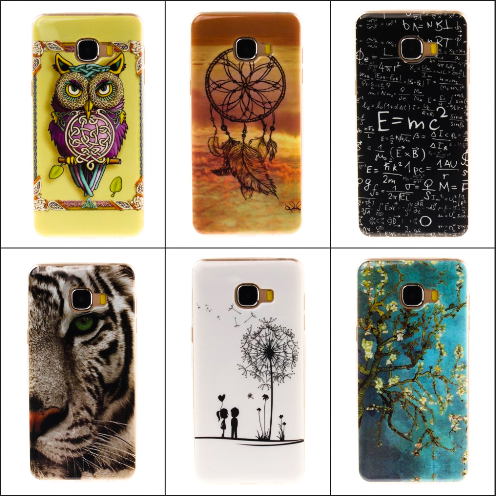 IMD Technology TPU Patterns Soft TPU Back cover Stylish Mobile Phone Case For Samsung Galaxy C5 C7 Coque(China (Mainland))