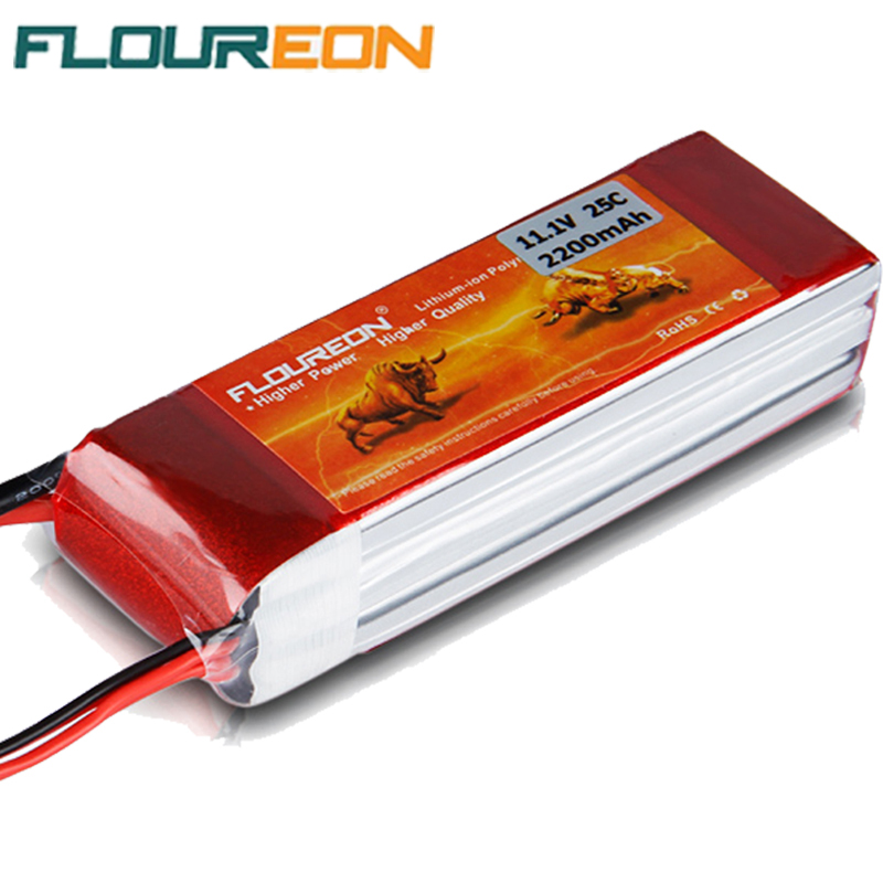 FLOUREON 3S 11.1V 2200mAh 25C Lipo RC Battery Pack Rechargeable Deans Plug for RC Helicopter Hobby Cars Li-poly Battery(China (Mainland))