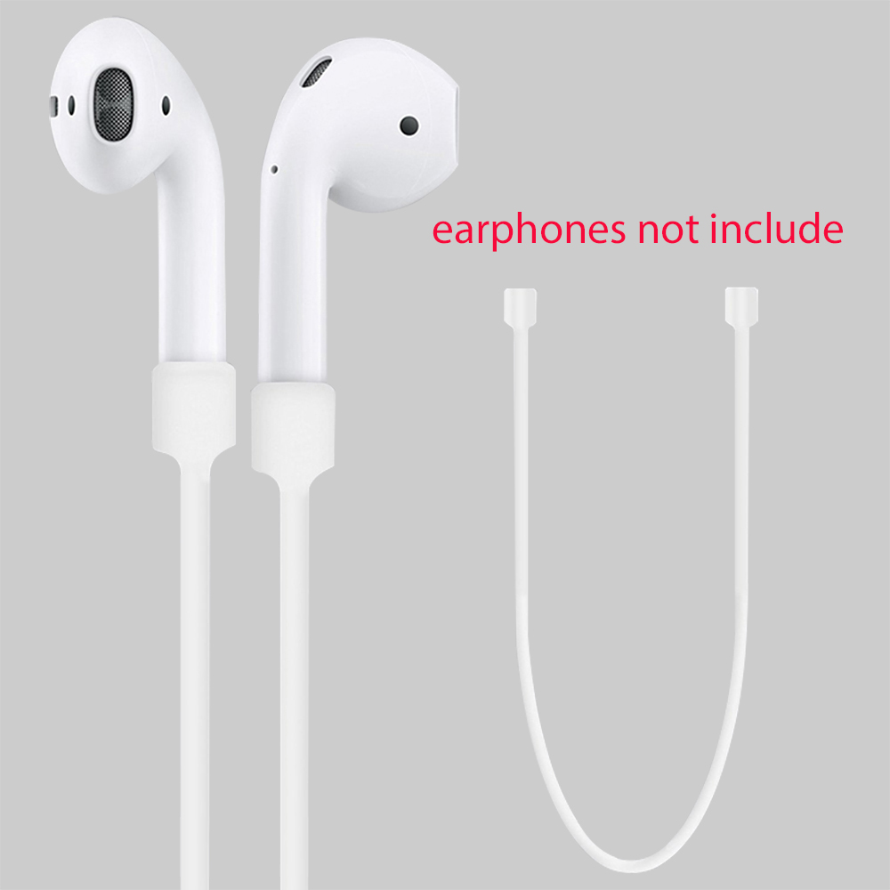 For Apple Airpods Headphones Anti Lost Strap Loop String Rope for Air Pods Bluetooth Earphone Silicone Cable Cord Accessories