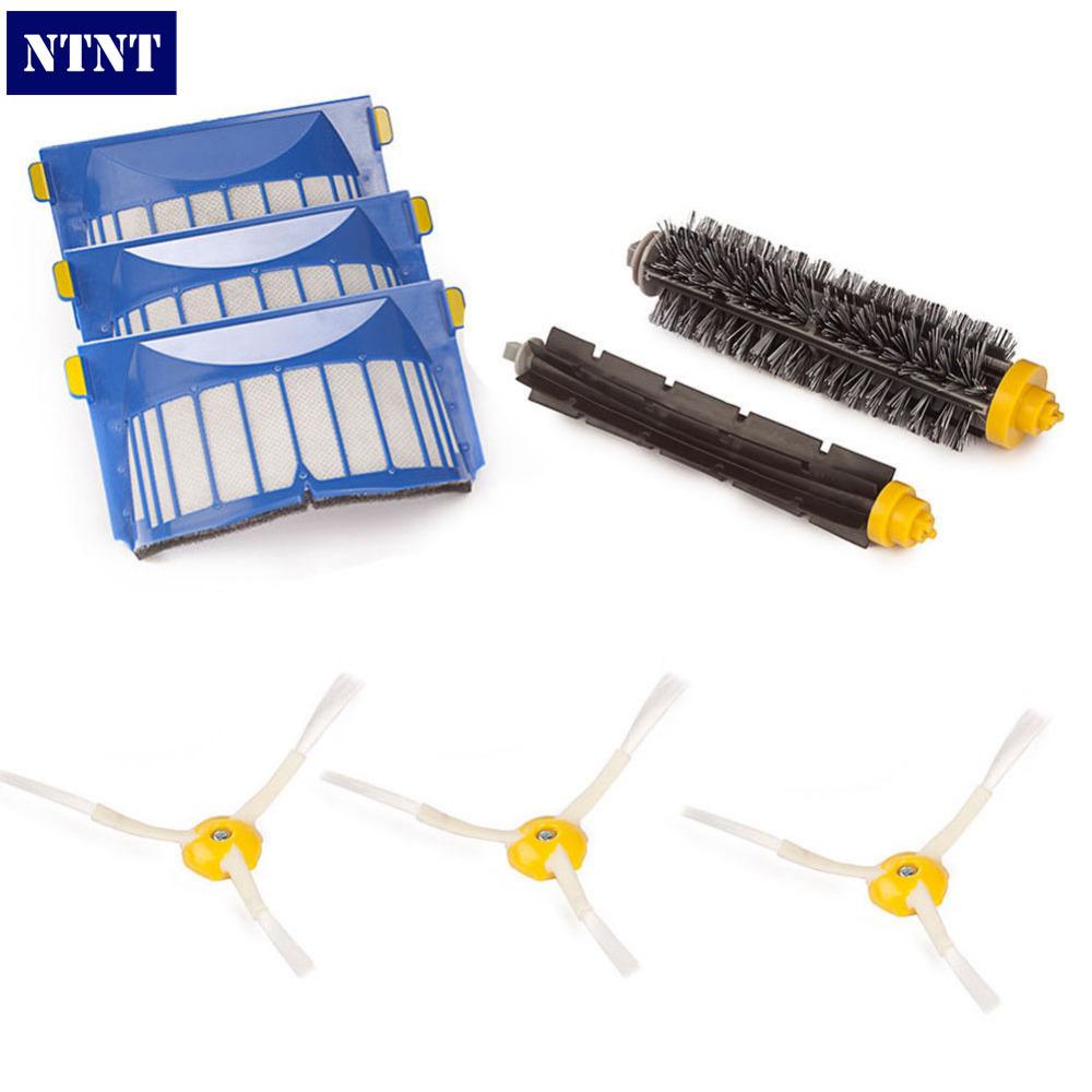 NTNT Free Post New 600 Series 620 630 650 660 Replenishment Brush Filter Kit For iRobot Roomba Aerovac(China (Mainland))