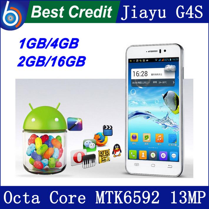 """in stock! jiayu g4s G4c G4 cellphone JY G4 3G 13MP 4.7"""" IPS Gorilla Screen phone G4S MTK6592 octa core 1.7Ghz/Eva(China (Mainland))"""