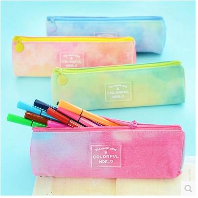 Stationery Fresh candy Triangle ship Rainbow pencil case pencil bag