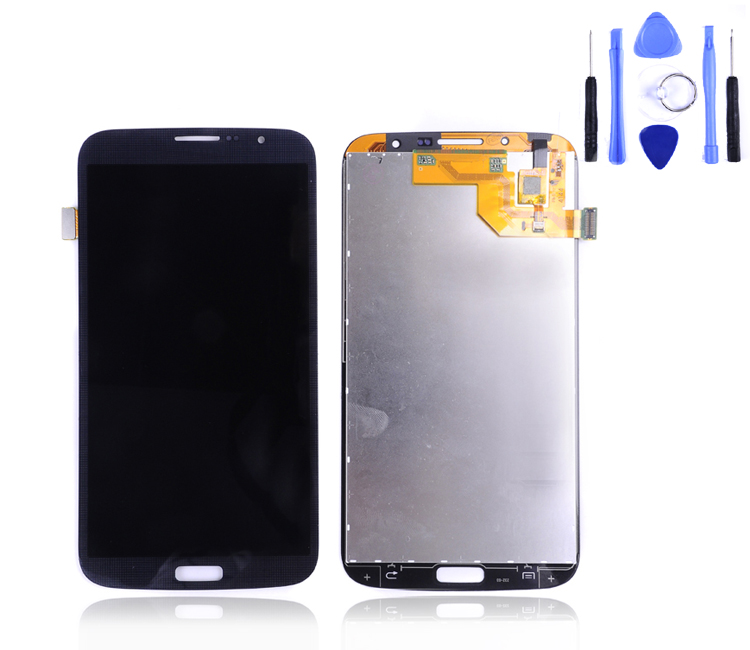 For samsung galaxy mega 6.3 i9200 lcd display touch screen digitizer assembly I9205 LCD black and white free shipping +tool