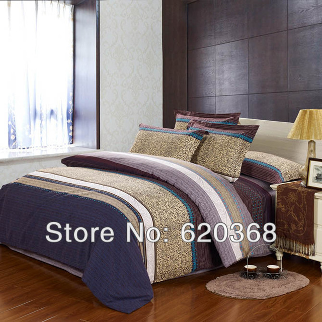 High Quality Promotion Sale 4pcs Cotton Bed set/Bedding sets Duvet Cover Flat Sheet/bedshee/bedspread/bedclothes Pillowcase