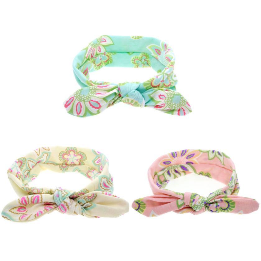 1PCS Baby Girl Lovely Bow Headband Flowers Polka Dot Hairband Turban Knot Headwear For Newborn Infant Toddler Hair Accessories(China (Mainland))