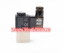 "free shipping 2V025-06 220V AC 2Port 2Pos 1/8"" BSP Normally Closed Solenoid Valve Coil Led(China (Mainland))"