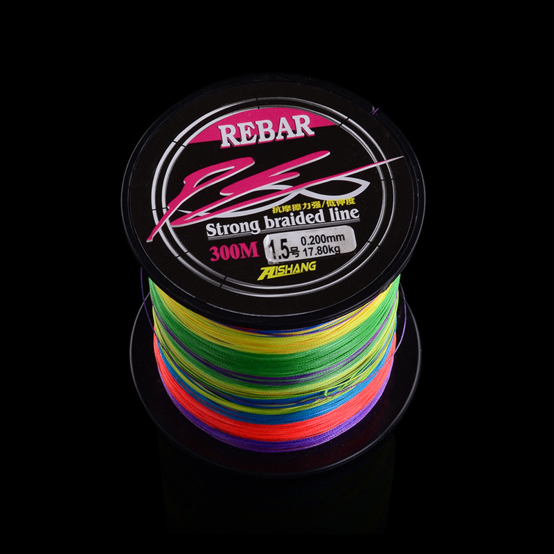 300m 0.8#-8.0# Eight In One Japanese Braided Fishing Lines PE Super Strong Tensile Fishing Lines Ten Metre A Color Multicolored(China (Mainland))