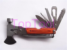 Multi-functional Folding Axe Hammer/ Camping Axe/ Hiking Saw/Knife/ Rescue knife/Military Hunting Knife Tool S1059