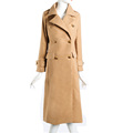 Top Quality Winter Extra Long Wool Blend Coats for Women Thick Double breasted Female Lapel Imitation