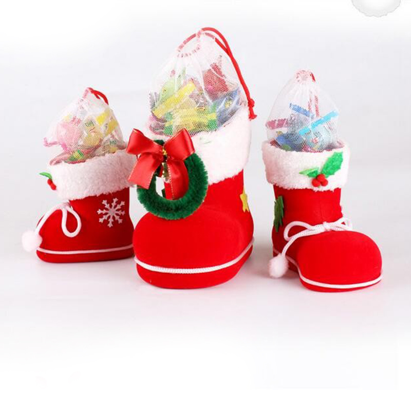 Christmas decoration supplies tree ornaments christmas boot for pen