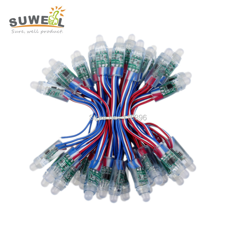 12v 12mm led ws2811 pixel module 50 node/string digital rgb full color waterproof ip68 led lights for letters sign(China (Mainland))