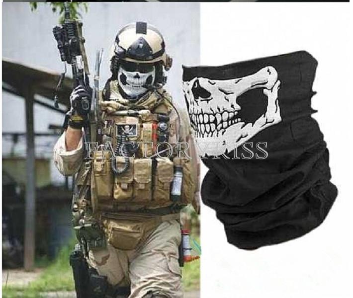Free Shipping Novelty Skull Wicking Seamless Washouts Scarf Fashion Cool Outdoor Ride Bandanas Sport Skull Scarves 4016-740(China (Mainland))