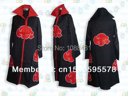 Naruto Akatsuki Cosplay Orochimaru uchiha madara Sasuke itachi cloak clothes Free Shipping(China (Mainland))