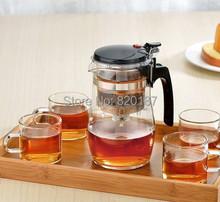 2014 High Quality 500ml Glass Tea Pot Flower Tea Set Puer Teapot Coffee Pot High quality