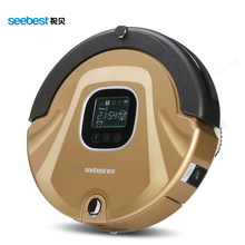 Seebest C565 As Seen On TV Robot Vacuum Cleaner Anti Collision Anti Fall,LCD Screen,HEPA Filter,Auto Clean(China (Mainland))