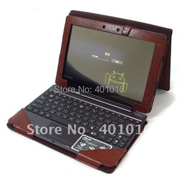 Brown Leather Cover Case for Asus Eee Pad Transformer 2 Prime TF201 Triple Keyboard ED622