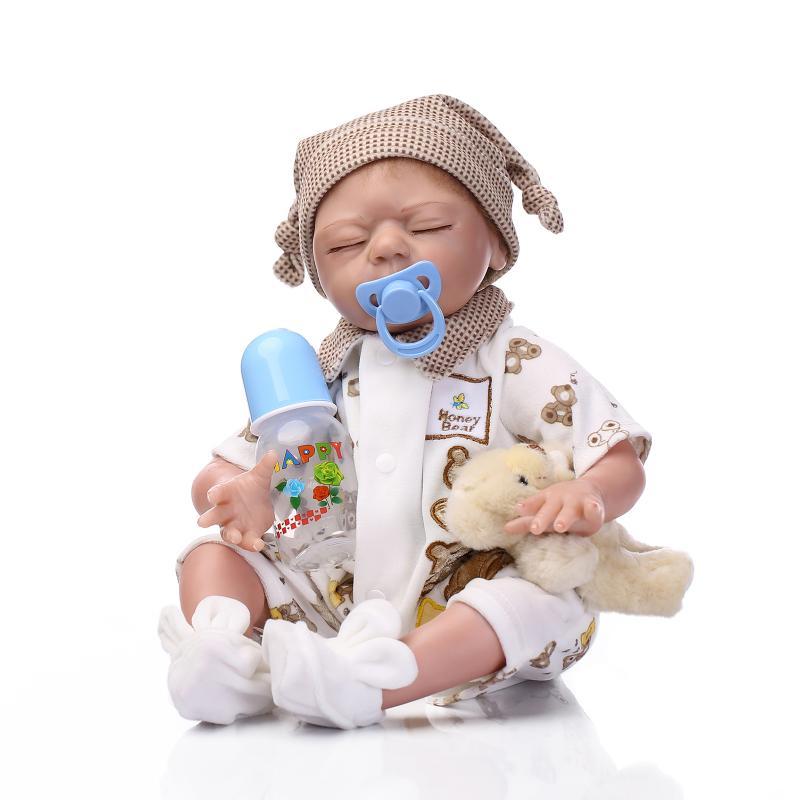 52CM Baby doll reborn silicone reborn babies lifelike newborn baby alive bonecas toys for children