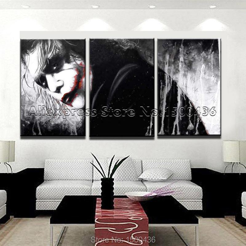 Hand painted modern cartoon portrait painting oil 3pcs for Modern art gallery online