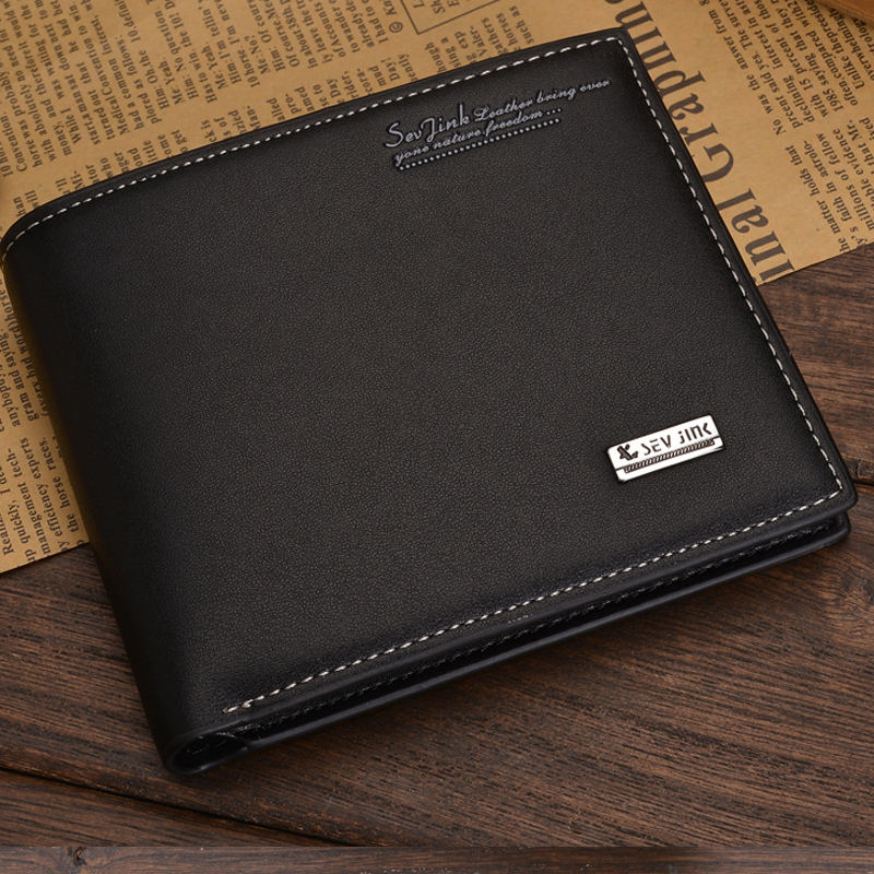 Free Shipping 2015 New Fashion Genuine PU Leather Wallet Male Bag Brand Men Wallets Handbag Purse
