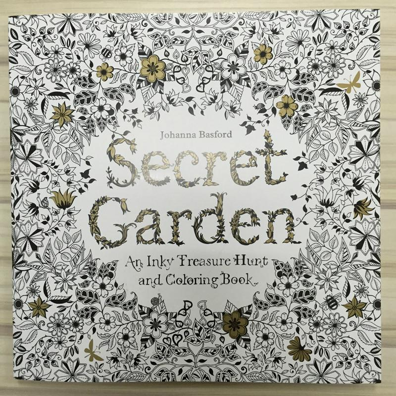 Secret Backyard Coloring Book Ninety Six Pages English Version For Children Grownup Relieve Stress Kill Time Portray Drawing E S20