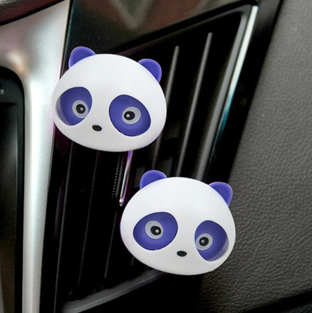 Car Auto Van Trunck Perfume Air Freshener Original Fragrance Air Conditioning Vent Car Styling Accessories Panda Eyes Will Jump(China (Mainland))