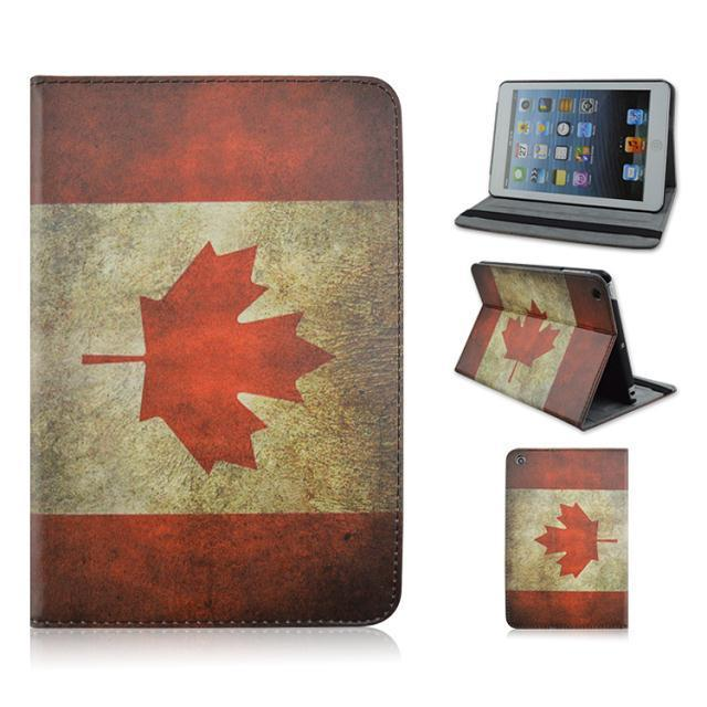 Smart Cover iPad mini 3 2 1 Canada Flag Pattern Stand Leather case 7.9 inch tablet pc leather cover +Stylus pen - LIIWA Digital Technology Co., Ltd store