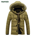 Tapoo Mens Down Coats Polyester Winter Jackets Thick 50 White Duck Down Casual Outerwear Windproof Handsome