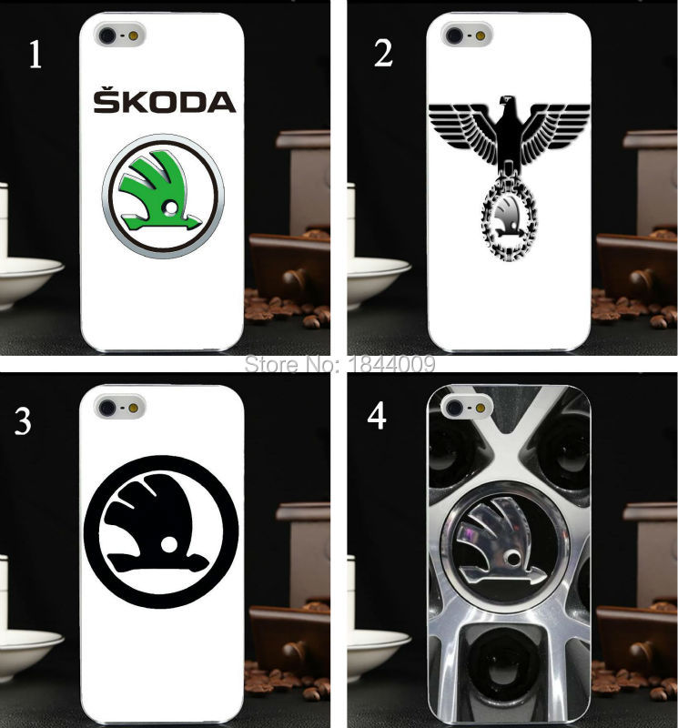 new Skoda car logo Style Hard Skin Transparent Cover Case for iphone 5 5s 4 4S 5c(China (Mainland))