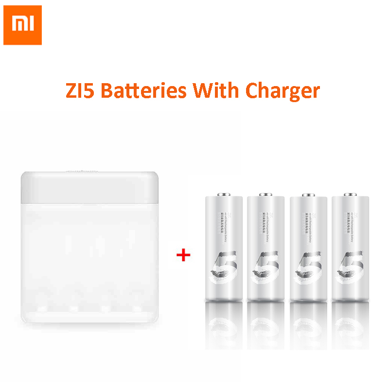 Original Xiaomi Zi5 AA Battery NiMH rechargeable Batteries 1800 mAh with charger and led environmentally For Camera Toys(China (Mainland))
