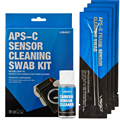 DSLR Sensor Cleaning Swabs Kit 12pcs with Liquid Cleaner Solution for Nikon Canon Sony APS C
