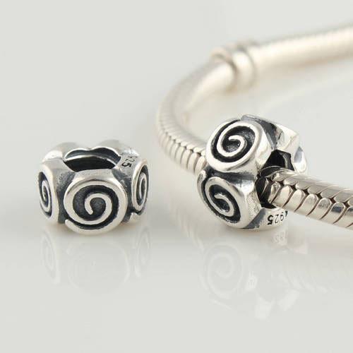 Подходит оригинальный браслет стерлингового серебра 925 бусины резьбовое отверстие пробка шаблон винт шарм DIY ювелирных изделий