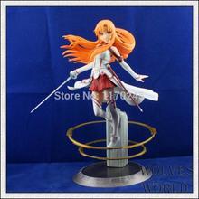Japanese anime (SAO) Sword Art Online 1pcs 22cm/8.7inch Asuna Genuine high quality PVC Action Figure toys Vignette Figure toys