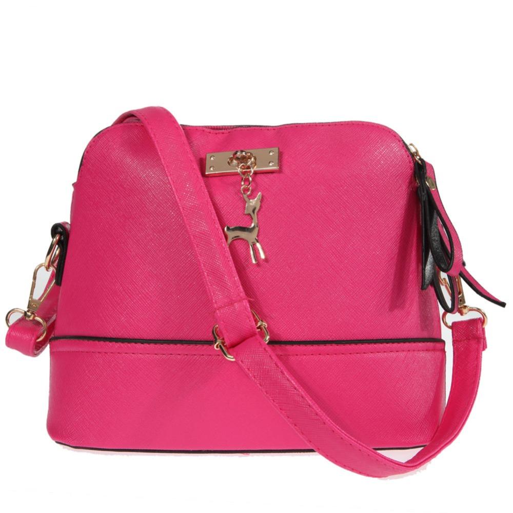 Fashion Women Leather Shoulder Bags Famous Brand Shoudler Handbag Women Messenger Bags Pink Crossbody Bag free shipping