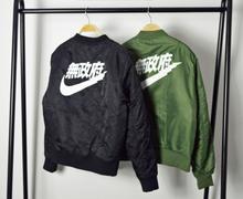 Anarchy Big sam KANYE WEST YEEZUS tour MA1 pilot jackets kanji black green yeezy flight parka japanese MERCH BOMBER MA-1 coats(China (Mainland))