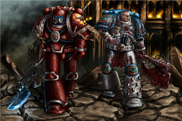 Free shipping 40000 game wallpapershorus heresy custom for Decor 40k