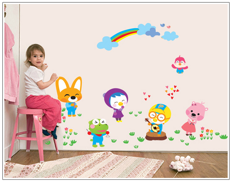 American Europena Style wall stickers home decor wall accessories for kids rooms adesivo de parede(China (Mainland))